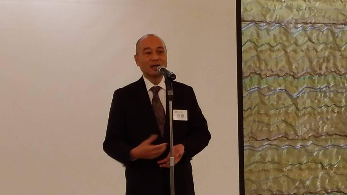 顧問 伊藤眞一郎先生(17期) ご挨拶と乾杯ご発声